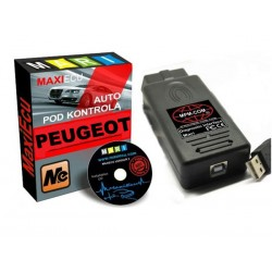 Zestaw MaxiEcu PEUGEOT + interfejs USB