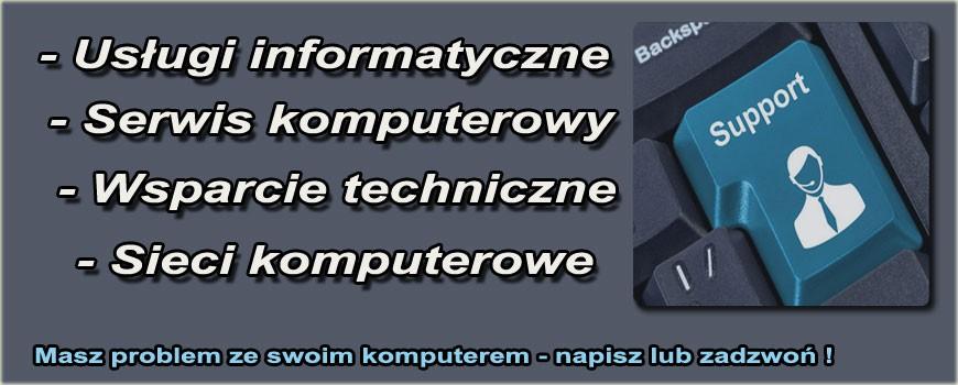 Usługi informatyczne serwis komputerowy